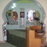 Inside seating area