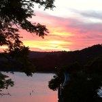 Terrace sunset