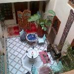 internal courtyard of riad dubai
