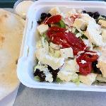 Greek salad! that's all feta cheese!