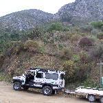The Safari and trailer