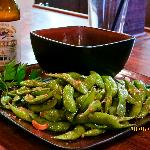 Edamame (soybean), what can I say? Wonderfully seasoned and tasty!