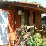 Wooden fan bungalow.