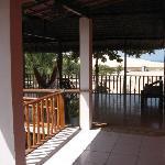 Porch on upper floor (doors lead into rooms).
