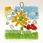 A variety of family activities are on offer, such as Glass Fused Mosaics