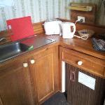The Tea Room. My next door neighbors caravan has better condition than this
