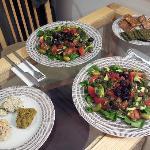 Raw vegan dinner in room
