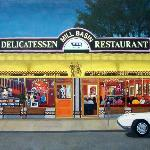 Painting of Milll Basin Kosher Deli