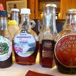 a dizzying slection of syrups!