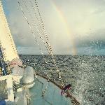 Rainbow guiding us back to St. John