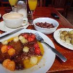 Brunch - French Toast with Carmelized Fruit