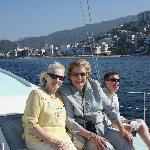 Our Moms had a great time cruising around the bay. There was plenty of shade when needed.