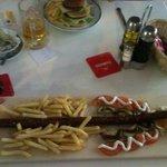 the sausage was mahoosive!!