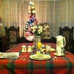 My breakfast table setting at Victoria Inn B&B