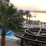 some of the pools at Hilton Luxor