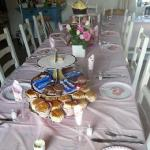 Afternoon tea for 17 in Henchard