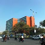 Taj Vivanta, Begumpet, Hyderabad, view from the road.