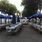 terrasse du café bleu roi
