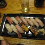 Sushi omakase at booth