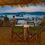 Restaurant cafe after sunset