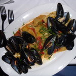 Mussles with pasta