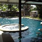 Great pool and bar