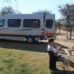 Our camper van on the camp site