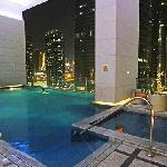 pool at dark