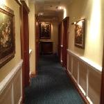 The corridor to the rooms