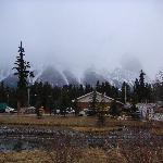Mountains behind the town of Canmore