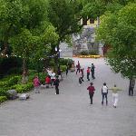 The park near the hotel
