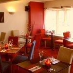 The upstairs restaurant at Siennas