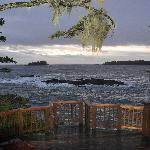 Deck overlooking ocean from Main Lodge