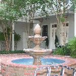 Water fountain in the courtyard
