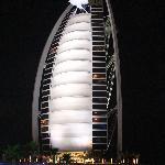 Night view of Burj Al Arab