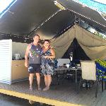 The safari tent!!