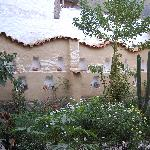 The natural courtyard in the middle