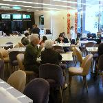 Although the dinning area is not big, variety of food is acceptable.