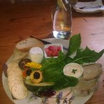 platter at oranje tractor wine