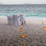 Romantic private beach dinner