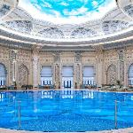 The relaxing and luxurious Pool Area at The Ritz-Carlton, Riyadh