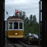 The Trolley entering the Roundhouse