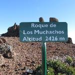 Sign at the top