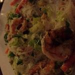 Shrimp with rice noodles. Delicious.