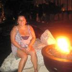 Sitting by a great fire they had throughout the resort nightly