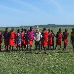 Dancing with the Maasai warriors