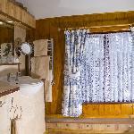 Room 3 - luxury en-suite bathroom with both bath and shower.