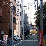 Near the hostel entrance