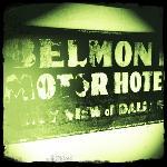 old Belmont Motor Hotel Sky Views sign
