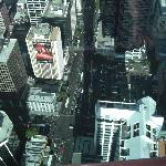 The hotel is the one with the hording, View from sky tower